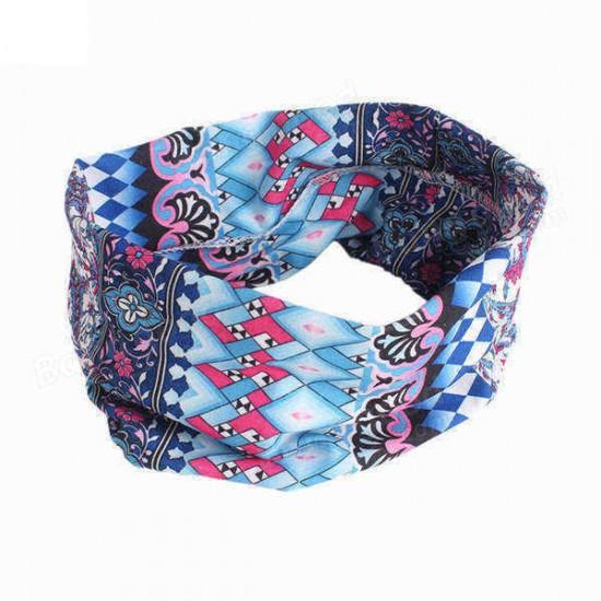 1 PCS Bohemia Yoga Headband Elastic Seamless Bandana Scarf UV Resistence Sport Headwear
