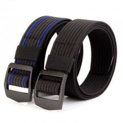 120CM Mens Stretch Braided Elastic Weave Nylon Military Belts Outdoor Sport Tactical Belt