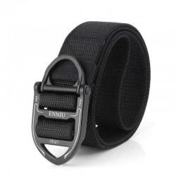 125CM ENNIU Nylon Tactical Belt with Ring Buckle Outdoor Multi-Functional Waist Belt