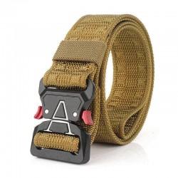 125cm Men 3.8cm Width Nylon Waist Belts Tactical Belt Quick Release Inserting Buckle Waist Belt