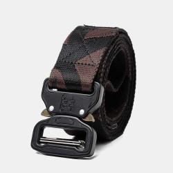 160cm Nylon Waist Leisure Belts Zinc Alloy Tactical Belt Quick Release Inserting Buckle