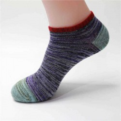 1Pair Men Women Socks Cotton Line Vintage National Style Boat Short Socks