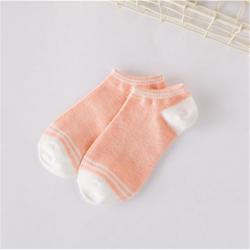 1Pair Women Cotton Stripe Socks Girls Cute Patchwork Invisible Boat Socks
