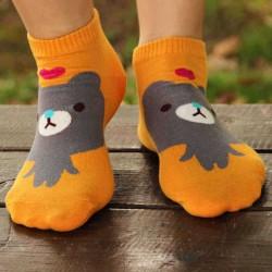 1Pair Women Girls Socks Warm Cotton Blend Cartoon Animal Pattern Cute Hosiery