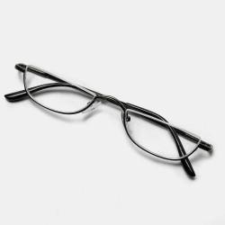 2 Color Half Frame Half Arc Frame Reading Glasses