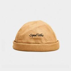2019 Autumn New Stripe Quick Buckle Unique Design Beret  Street Trends Melon Cap Vintage Innocent Metal Standard Sailor Brimless Hats