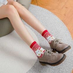 4 Pair Women Christmas Cotton Cute Cartoon Gift Socks Winter Tube Floor Sock wiht Box