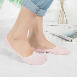 5 Pair Women Cotton Invisible Breathable Low Cut Socks Non Skid Sock