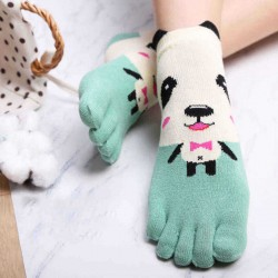 5 Pair Women Winter Warm Thicken Cotton Ski Toe Socks Lady Cartoon Floor Ankle Sock