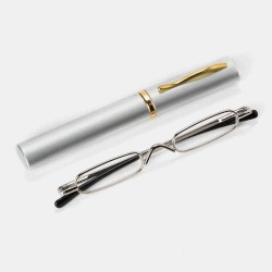 6 Color Mini Reading Glasses With Pen Holder