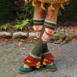 Army Green Plain Paneled Casual Cotton-Blend Underwear & Sock