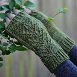 Autumn Winter Casual Basic Flora Knitted Glove