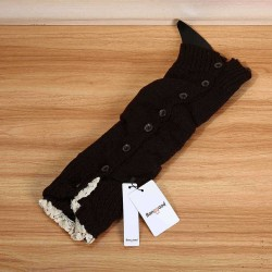 Bang good Women Girl Knitting Boots Long Tube Stockings Lace Button Decorative Legs Protective Socks Hosiery