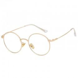 Bendable Blue Light Blocking Optical Eyeglasses Round Metal Frame Computer Reading Glasses