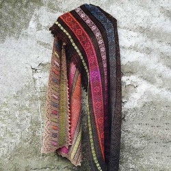 Brown Cotton Blend Casual Scarves & Shawl