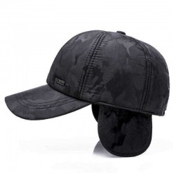 Camouflage Cotton Earmuffs Baseball Cap Winter Warm Thicken Peaked Hat Adjustable
