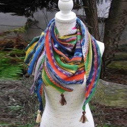 Casual Color Block Knitted Scarves & Shawl