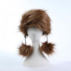 Zanzea Woman Fluffy Faux Fur Hat