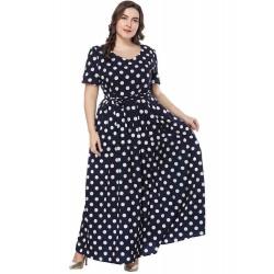 Casual Loose Polka Dot Dress for Women