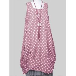 Casual Polka Dot Sleeveless Loose Plus Size Dress