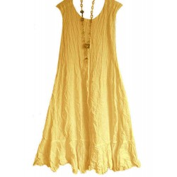 Casual Solid Color Sleeveless Plus Size Dress for Women