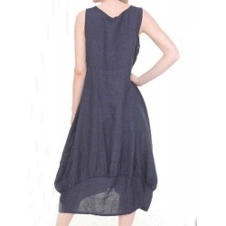 Casual Solid Color Sleeveless Summer Dress